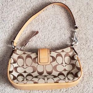 Coach Bags - Coach mini hobo signature clutch:  Make an Offer!
